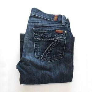 7 for all Mankind Dojo flare jeans *hemmed*